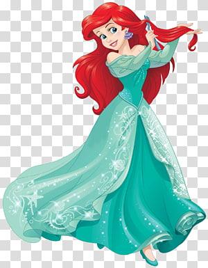 Ilustrasi Putri Disney Ariel, Putri Ariel Aurora Rapunzel Fa Mulan Putri Disney, putri duyung ariel png