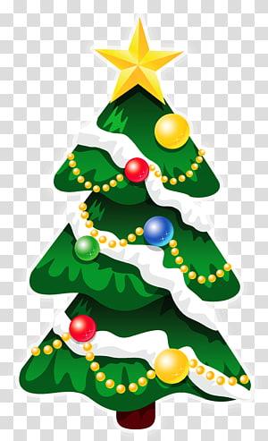 ilustrasi pohon natal, rudolph santa claus hari natal pohon natal, pohon natal deco xmas dengan bintang PNG clipart