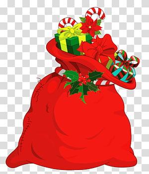 sekarung hadiah, Hadiah Natal Santa Claus, Tas Santa Natal png