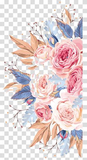 Undangan pernikahan Bunga lukisan cat air, Bunga cat air, ilustrasi bunga aneka warna png