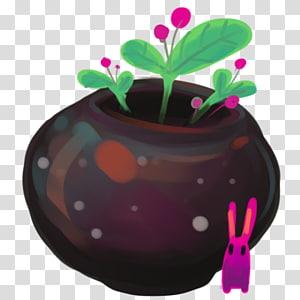 menanam dalam stiker pot, tanaman pot bunga magenta, Bin Kosong png
