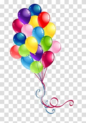 balon, kue ulang tahun Balon Selamat Ulang Tahun untuk Anda, balon berwarna png