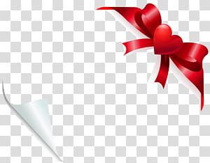 Ribbon Heart Grosgrain Pembungkus kado kain Tenun, Valentine Heart Bow Dekorasi untuk Kartu, ilustrasi pita merah dan putih png