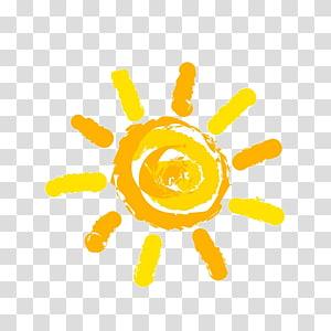 Ilustrasi matahari, matahari, matahari kuning PNG clipart