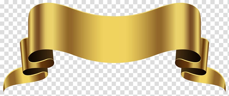 ilustrasi pita kuning, Emas, Spanduk Emas PNG clipart