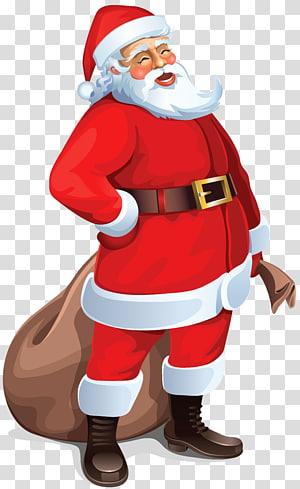 Santa Claus, Santa Claus Besar, Santa Claus memegang ilustrasi karung png