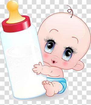 Kartun Bayi Botol bayi, bayi, bayi memegang botol susu ilustrasi PNG clipart