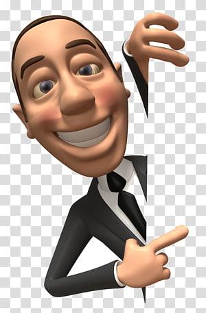pria yang mengenakan jas hitam, grafis komputer Dokter 3D, Kartun man png