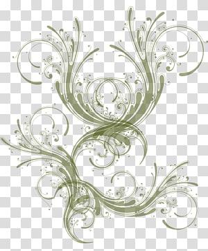 perbatasan templat kerawang zaitun-hijau, Abstraksi Abstrak Pola seni, abstrak PNG clipart