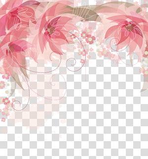 Bunga, Bunga pink Perbatasan, bunga pink berbatasan png