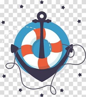 ilustrasi jangkar kapal, elemen Nautical png