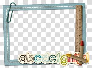 ilustrasi bingkai alfabet biru, bingkai pendidikan sekolah menengah nasional, bingkai powerpoint PNG clipart