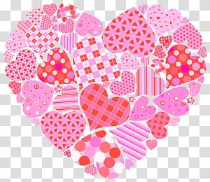 Hati Hari Valentine, Hati Hari Kasih Sayang, ilustrasi hati merah muda png
