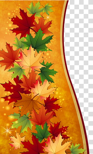 ilustrasi daun maple berbagai macam warna, Daun Maple Musim Gugur, Dekorasi Daun Musim Gugur PNG clipart