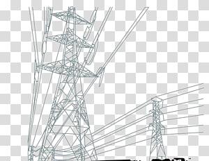 ilustrasi pasca kelabu listrik, Tegangan tinggi Kabel tegangan tinggi Transmisi daya listrik, menara tegangan tinggi png