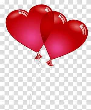 Valentine's Day Balloon Heart, Red Valentine Heart Baloons, tw re png