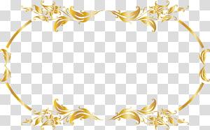 Luxury Gold Gratis, Luxury gold border, aksen daun emas png
