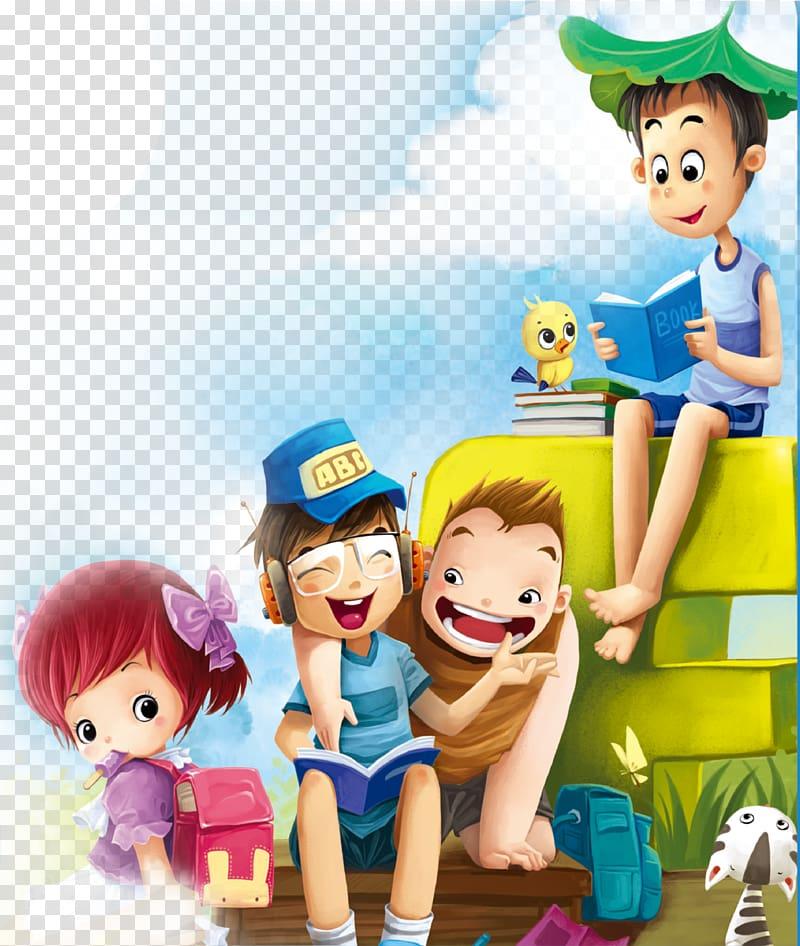 ilustrasi buku bacaan anak lelaki, Poster Kartun, bacaan anak-anak png