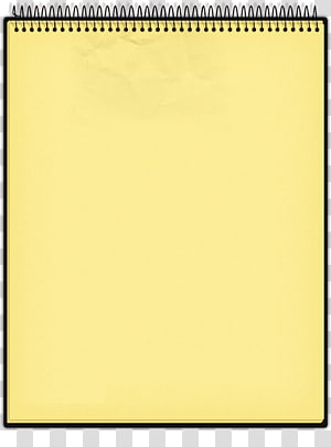 ilustrasi notepad kuning, notebook notepad, notebook PNG clipart