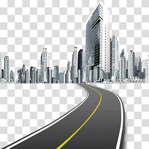 Desain web Ikon desain grafis, Jalan-jalan kota, jalan menuju bangunan kota PNG clipart