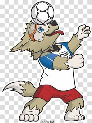 Piala Dunia FIFA 2018 Maskot resmi Piala Dunia FIFA Zabivaka Rusia, Rusia, ilustrasi kartun serigala beige png