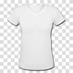 Kaos Hoodie Pakaian Leher, Kaos Kosong, kaos v-neck putih png
