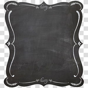 Blackboard frame Chalk, Black border, white chalk board PNG clipart