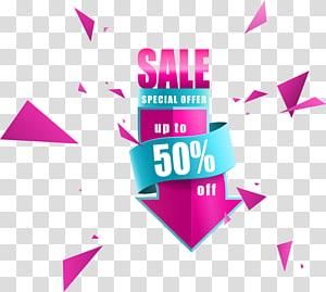 Dijual Penawaran Khusus hingga 50% iklan, Poster Euclidean, panah penjualan diskon png
