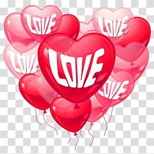 ilustrasi hati merah, Cinta Hati Hari Valentine, Balon Cinta Hari Kasih Sayang Merah Muda png