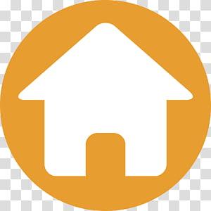 ikon rumah oranye dan putih, Computer Icons Home, Free Of House Icon PNG clipart