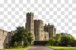 puri beton abu-abu, Istana Abad Pertengahan Windsor Castle London, Kastil Abad Pertengahan png