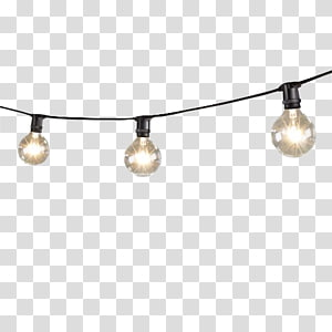 Pencahayaan Lampu pijar bola lampu LED String, Lampu Mini String Dengan Globe Lights, close-up hitam 3-light string lights png