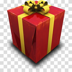 gift table box, Present, gift box merah dan kuning secara close-up png
