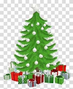 Hadiah pohon Natal Ornamen Natal, Pohon Natal dengan Hadiah png