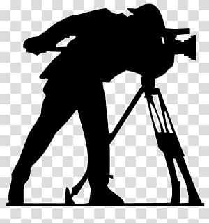 siluet manusia menggunakan teleskop, film grafis Kamera film Video produksi Logo, Kamera png
