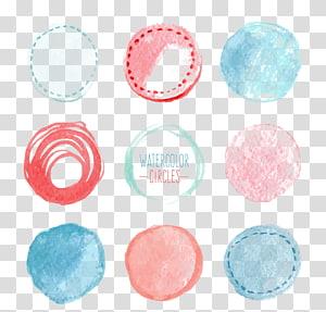 Ilustrasi Lingkaran Cat Air, Lingkaran lukisan Cat Air Euclidean, Label Cat Air PNG clipart