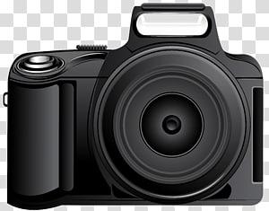 kamera DSLR hitam, Kamera Digital SLR film grafis, Kamera png