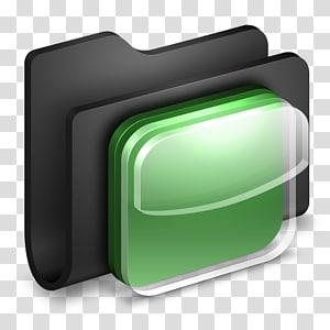 ilustrasi organiser hitam dan abu-abu, font sudut hijau, iOS Ikon Folder Hitam png