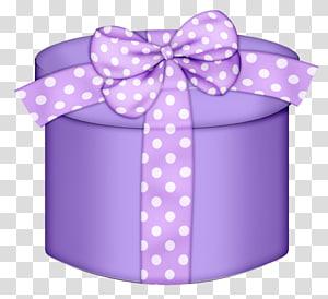 kotak hadiah ungu, hadiah Natal Pink, Kotak Hadiah Bulat Ungu png