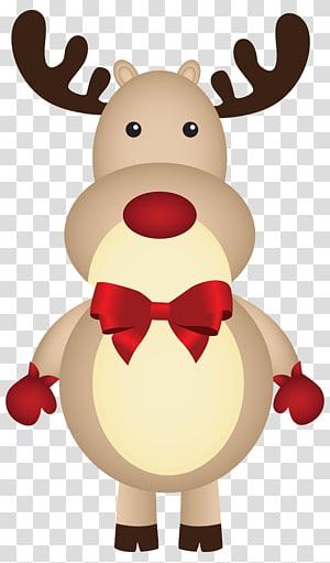 ilustrasi rusa, Rudolph Santa Claus rusa Natal, Natal Rudolph dengan Bow png