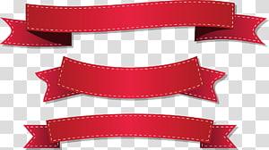 tiga pita merah, Ilustrasi pita Ilustrasi, Pita merah png