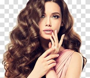 wanita akan menyentuh bibirnya, Salon Kecantikan Perawatan Rambut Manicure Pedicure, penata rambut PNG clipart