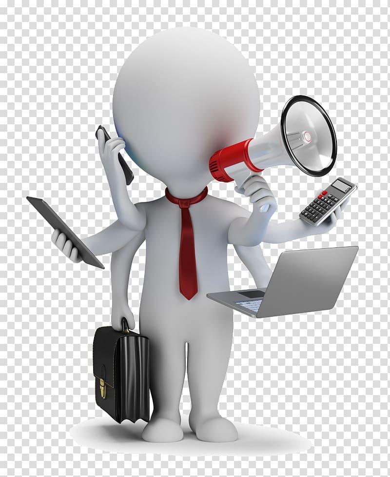 pria memegang berbagai macam ilustrasi item, Manajemen Manajer Konten gratis, pekerjaan komersial Stickman PNG clipart