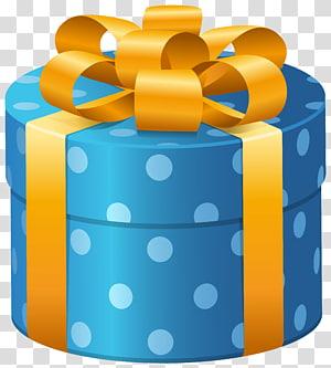 ilustrasi kotak hadiah biru, Kotak Hadiah, Kotak Hadir Bertitik Oval Biru png