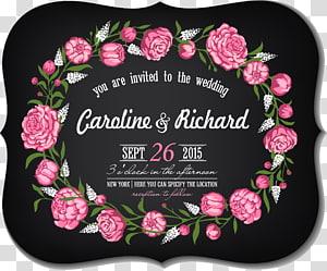 Poster Caroline & Richard, Kartu Undangan Pernikahan png