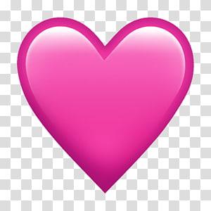 ilustrasi hati merah muda, Emoji Heart iPhone Sticker, hati cat air png