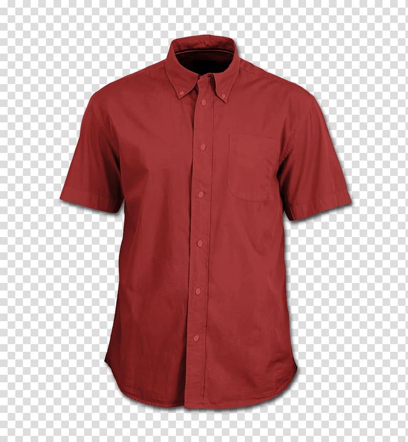 kaos berkerah merah kancing-up, Kaos Performa T-shirt, kemeja png