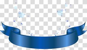 Pola Biru, Elemen Dekoratif Spanduk Biru, ilustrasi pita biru png