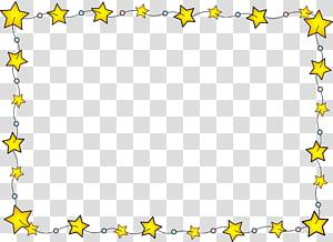 ilustrasi bintang kuning, Perbatasan Bintang png