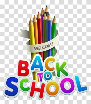 Kembali ke Dekorasi Sekolah, selamat datang kembali ke ilustrasi pensil sekolah PNG clipart